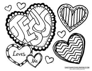 Bible verses for valentines day black and white clipart clipart royalty free stock Valentine\'s Day Bible Printables - Christian Preschool Printables clipart royalty free stock