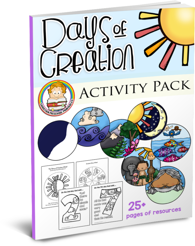 Biblical creation color book clipart banner royalty free Creation Bible Printables - Bible Story Printables banner royalty free