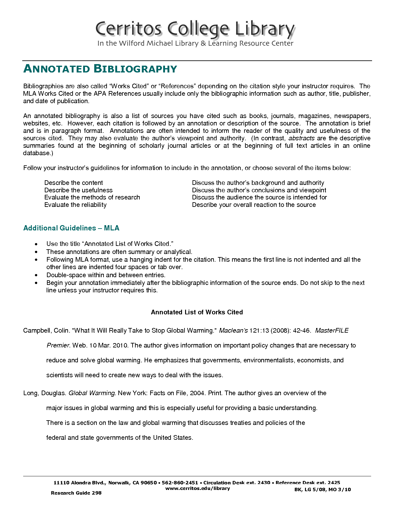 Annotated format sample examples. Bibliography apa
