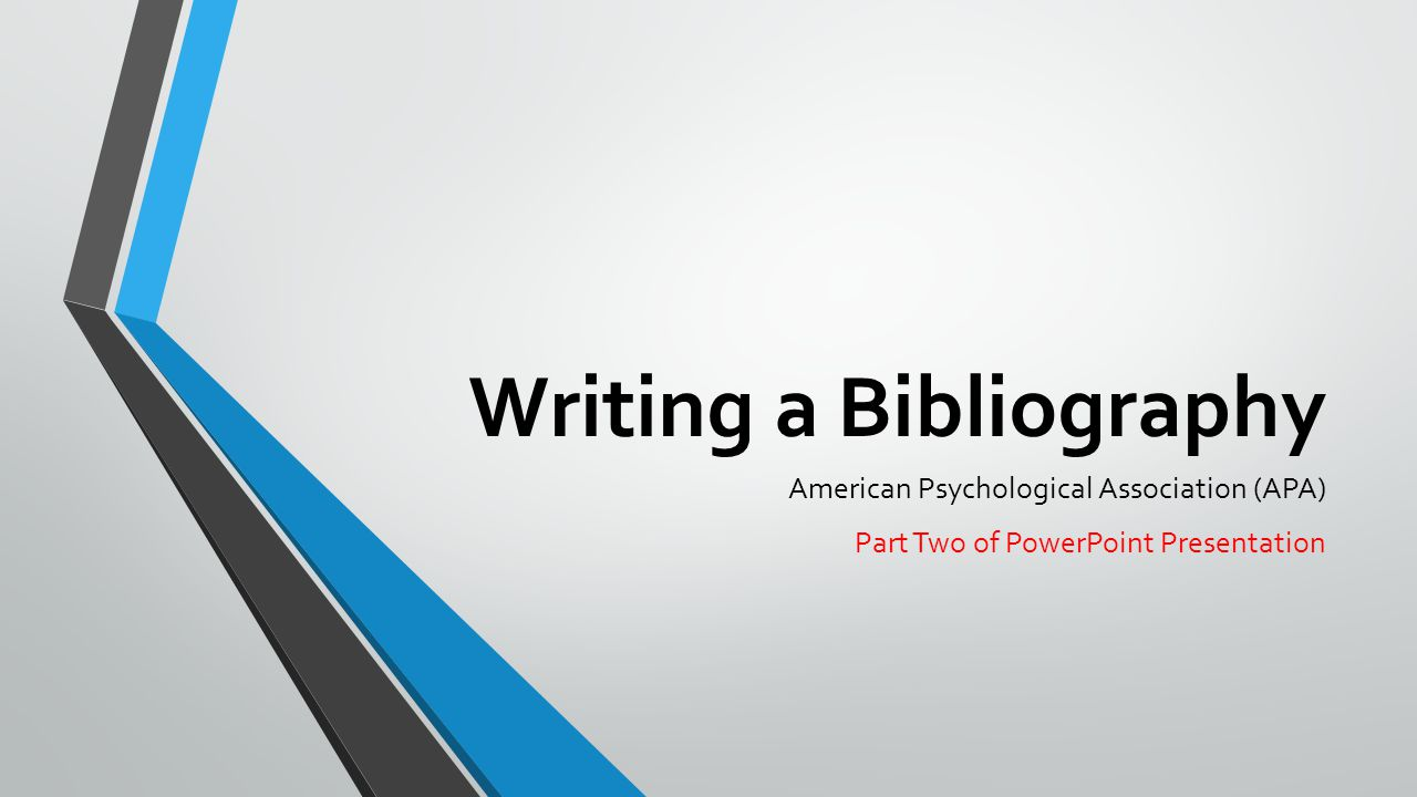 Bibliography apa graphic transparent Writing a Bibliography American Psychological Association (APA ... graphic transparent