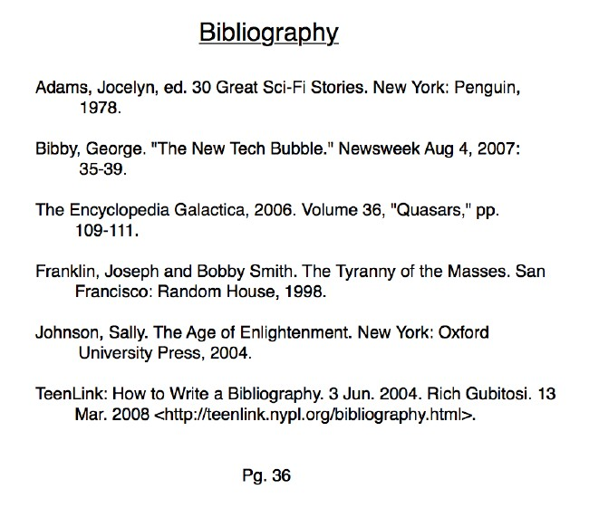 Clipartfest website example. Bibliography examples
