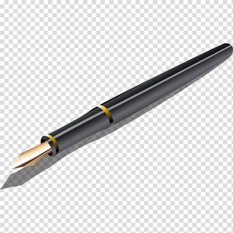 Bic pen clipart vector freeuse stock Bic Cristal Ballpoint pen Fountain pen, Black pen transparent ... vector freeuse stock
