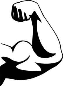 Bicep flex clipart graphic black and white stock 33+ Muscles Clip Art | ClipartLook graphic black and white stock