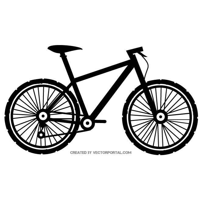 Bicicleta vector clipart png royalty free BICYCLE VECTOR SILHOUETTE - Free vector image in AI and EPS format. png royalty free