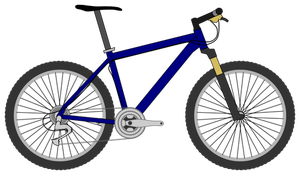 Bicicleta vector clipart png library library 8391 free vector mountain bike silhouette | Public domain vectors png library library