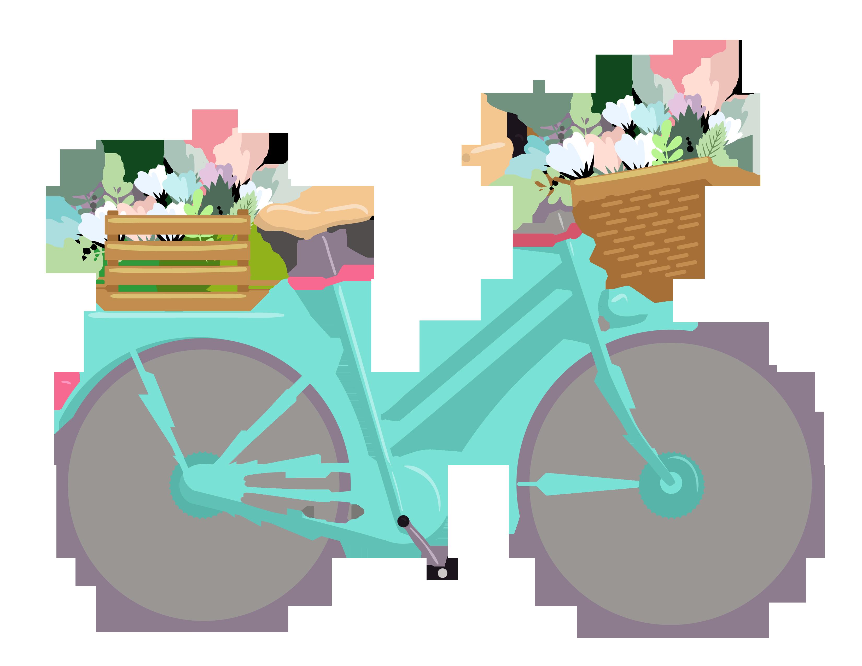 Bicicleta vintage clipart