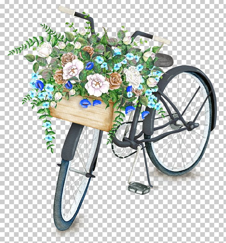 Bicycle baskets clipart clipart black and white Bicycle Basket Flower Drawing Stock Illustration PNG, Clipart ... clipart black and white