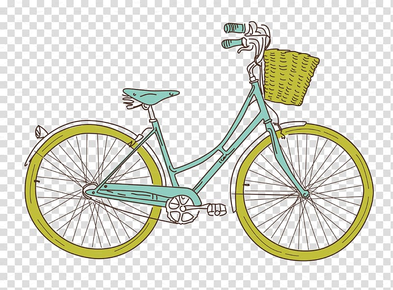 Bicycle clipart vintage clip art black and white library Transportation Bicycle Cycling , Vintage Bicycle transparent ... clip art black and white library
