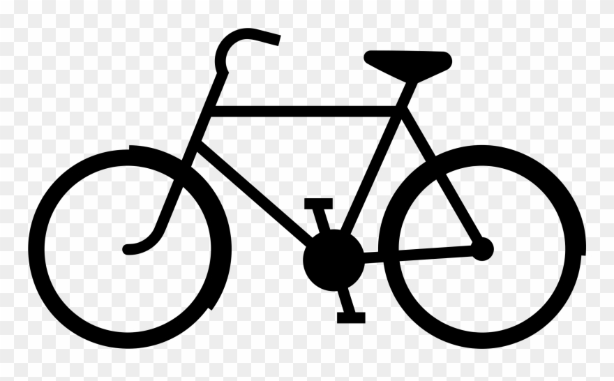 Bicycle icon clipart graphic royalty free Clipart Bicycle Icon 2 For Bicycle Clip Art - Silhouette Of A Bike ... graphic royalty free