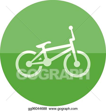 Bicycle icon clipart clip freeuse Vector Clipart - Circle icon - bmx bicycle. Vector Illustration ... clip freeuse