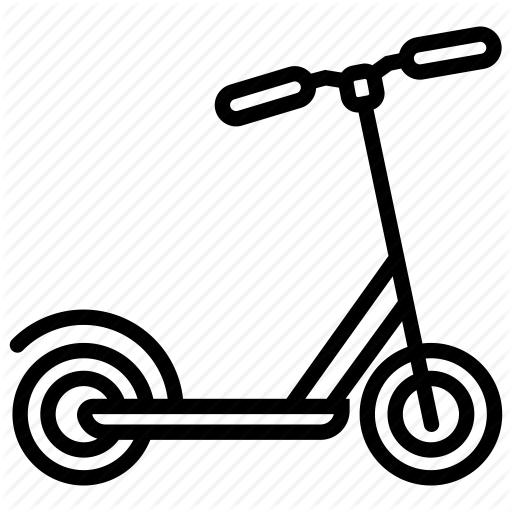 Bicycle scooter clipart clipart free stock \'Simple line vol3\' by Nikita Kozin clipart free stock