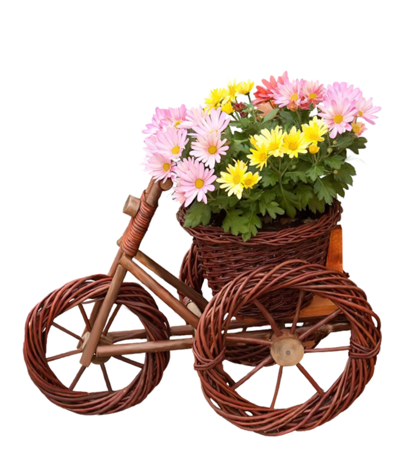 Bicycle with flower basket clipart banner free bicycle with flowers png by Melissa-tm on DeviantArt banner free