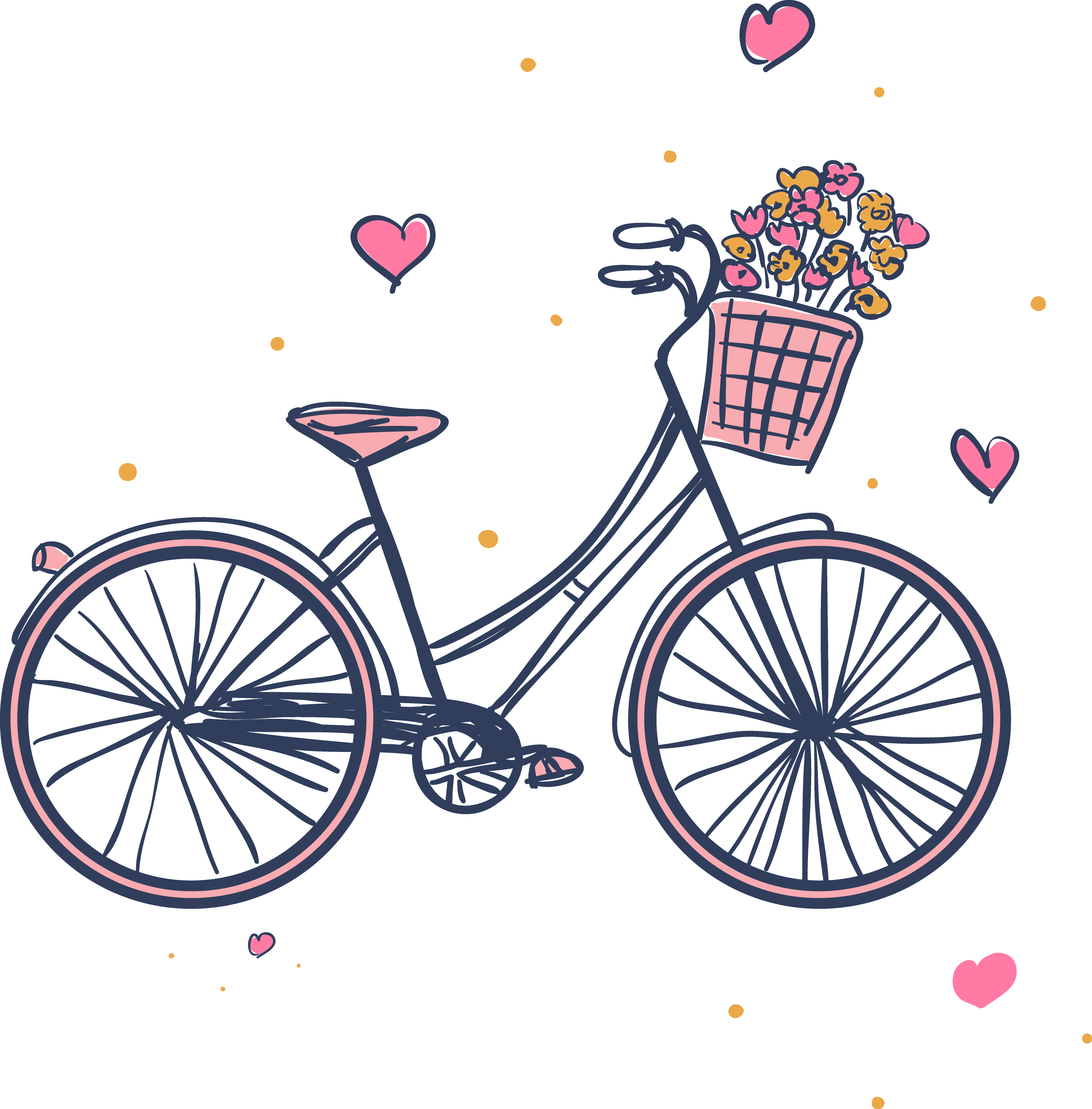 Bicycle with flower basket clipart svg black and white stock Raleigh Bicycle Company Bicycle frame Hybrid bicycle Giant Bicycles ... svg black and white stock