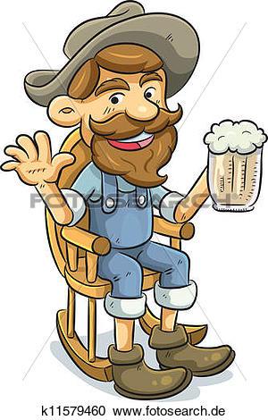 Bier trinken clipart picture black and white download Clipart - alter mann, trinken, a, bier k11579460 - Suche Clip Art ... picture black and white download