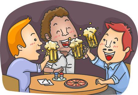 Bier trinken clipart free library Männer Bier Lizenzfreie Vektorgrafiken Kaufen: 123RF free library