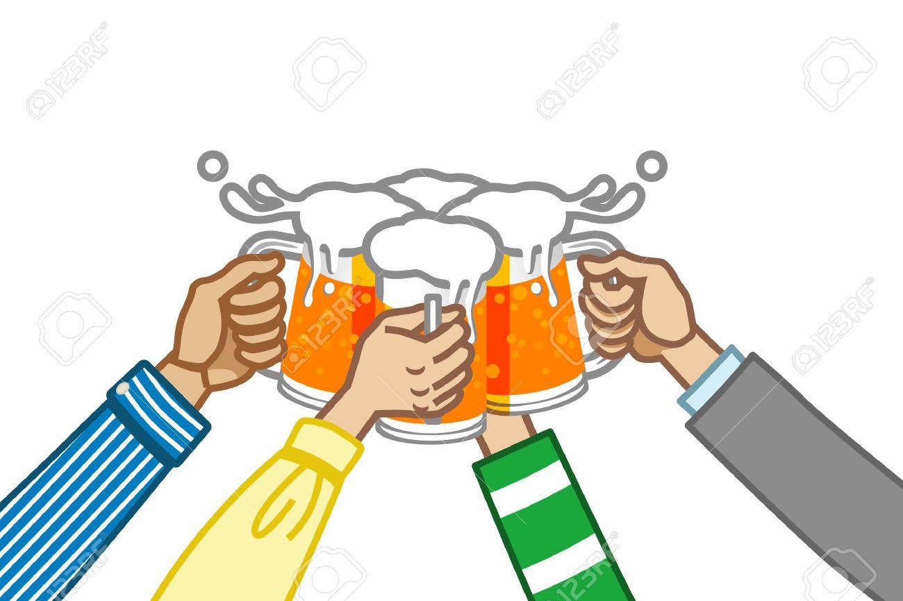 Bier trinken clipart freeuse download Toast Mit Bier, Weiß Zurück Lizenzfrei Nutzbare Vektorgrafiken ... freeuse download