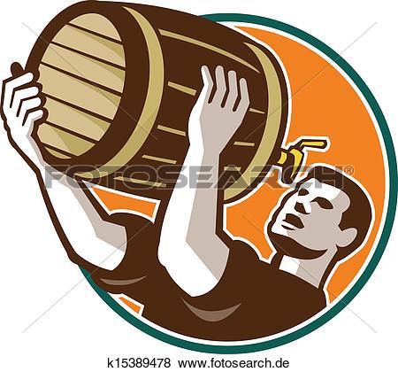 Bier trinken clipart clipart library Clip Art - barmann, gießen, trinken, fass, fass, bier, früher ... clipart library