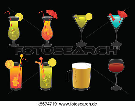 Bier und wein clipart vector Clip Art - alkoholische getränke, bier, und, wein k5674719 - Suche ... vector