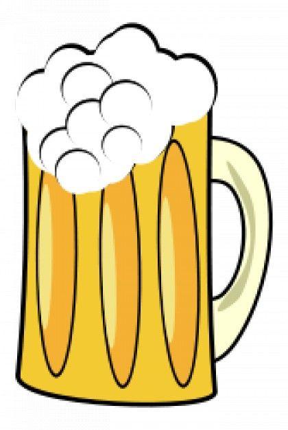 Bier und wein clipart picture transparent stock Jarro de cerveza. Vector gratis. Fondo blanco.   Imágenes   Pinterest picture transparent stock