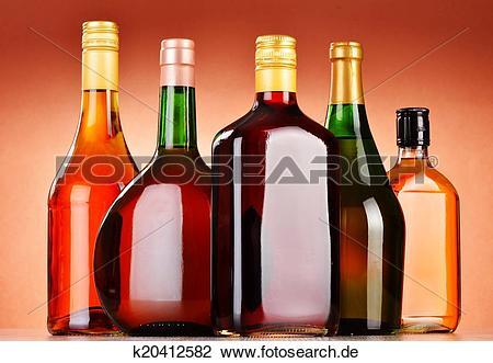 Bier und wein clipart jpg freeuse library Clip Art - flaschen, von, gemischt, alkoholische getränke ... jpg freeuse library