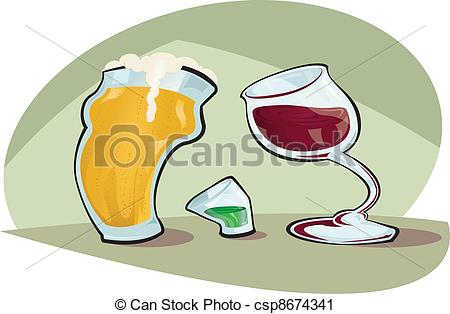 Bier und wein clipart free Vektor Clip Art von bier, vs, wein - karikatur, vektor, abbildung ... free