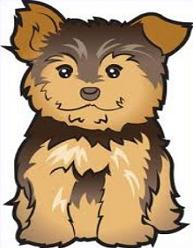 Biewer terrier clipart vector library stock Free Yorkshire Terrier Clipart - Clip Art Library vector library stock