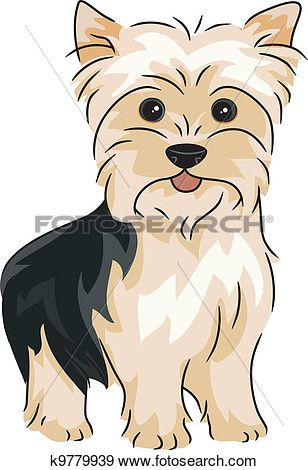 Biewer terrier clipart clipart black and white stock Yorkshire Terrier Clip Art   drawing   Dog clip art, Yorkie dogs ... clipart black and white stock