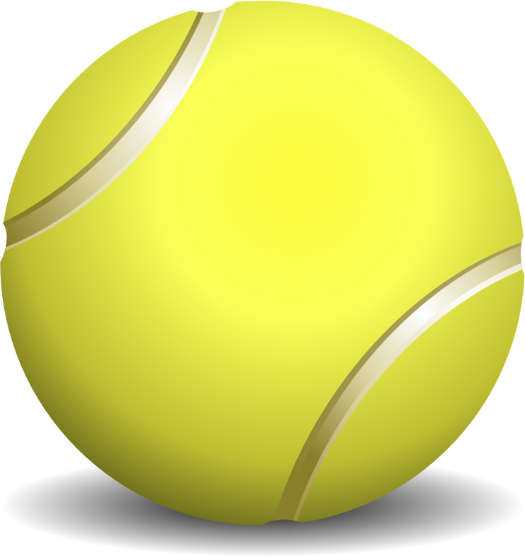 Big and small ball clipart vector library Clipart - tennis ball, teniso kamuoliukas vector library