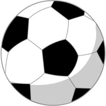 Big and small ball clipart graphic free stock Soccer Ball Clipart   Clipart Panda - Free Clipart Images graphic free stock