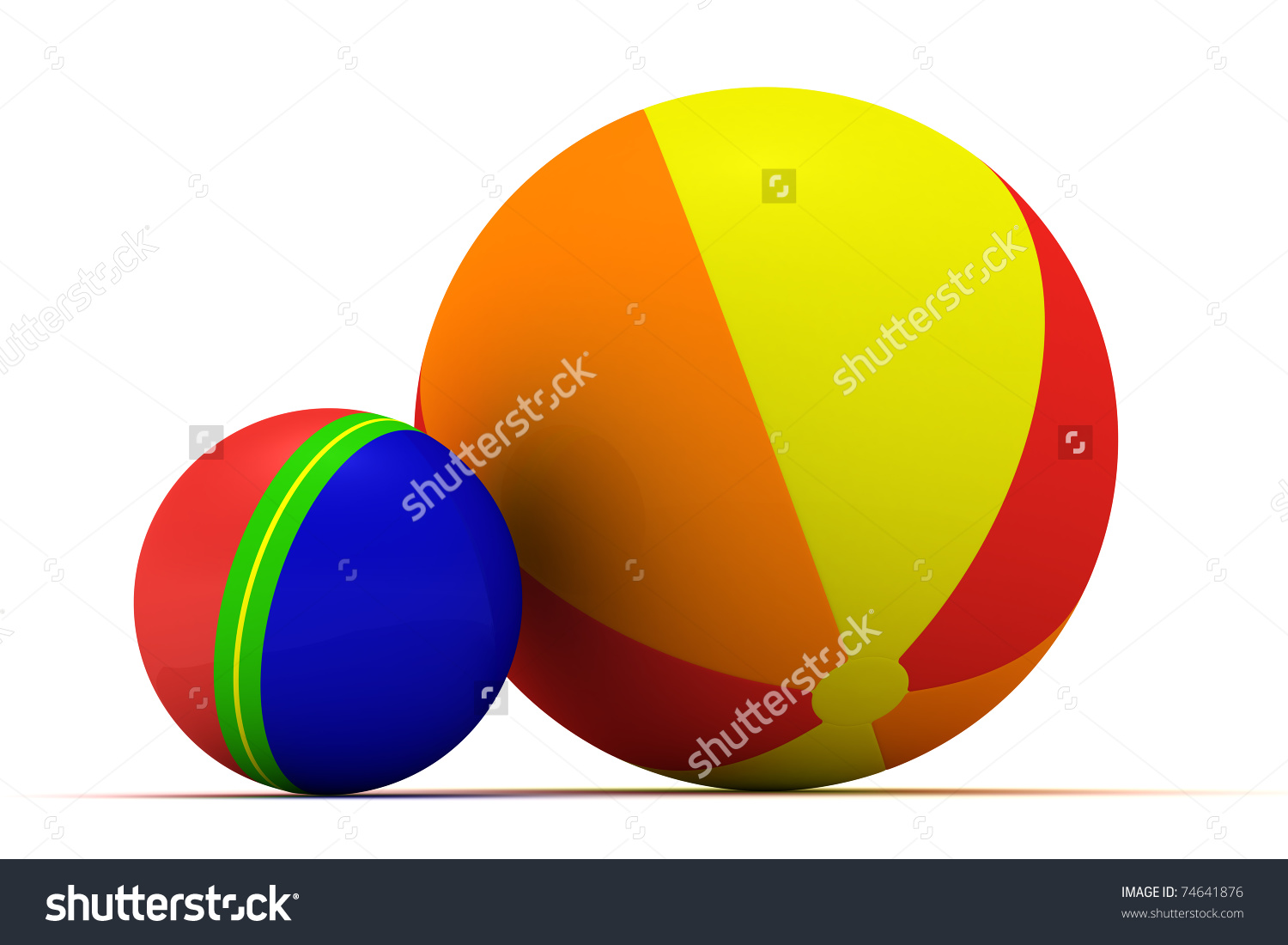 Big and small ball clipart vector freeuse stock Big Small Multicolored Balls Isolated Stock Illustration 74641876 ... vector freeuse stock