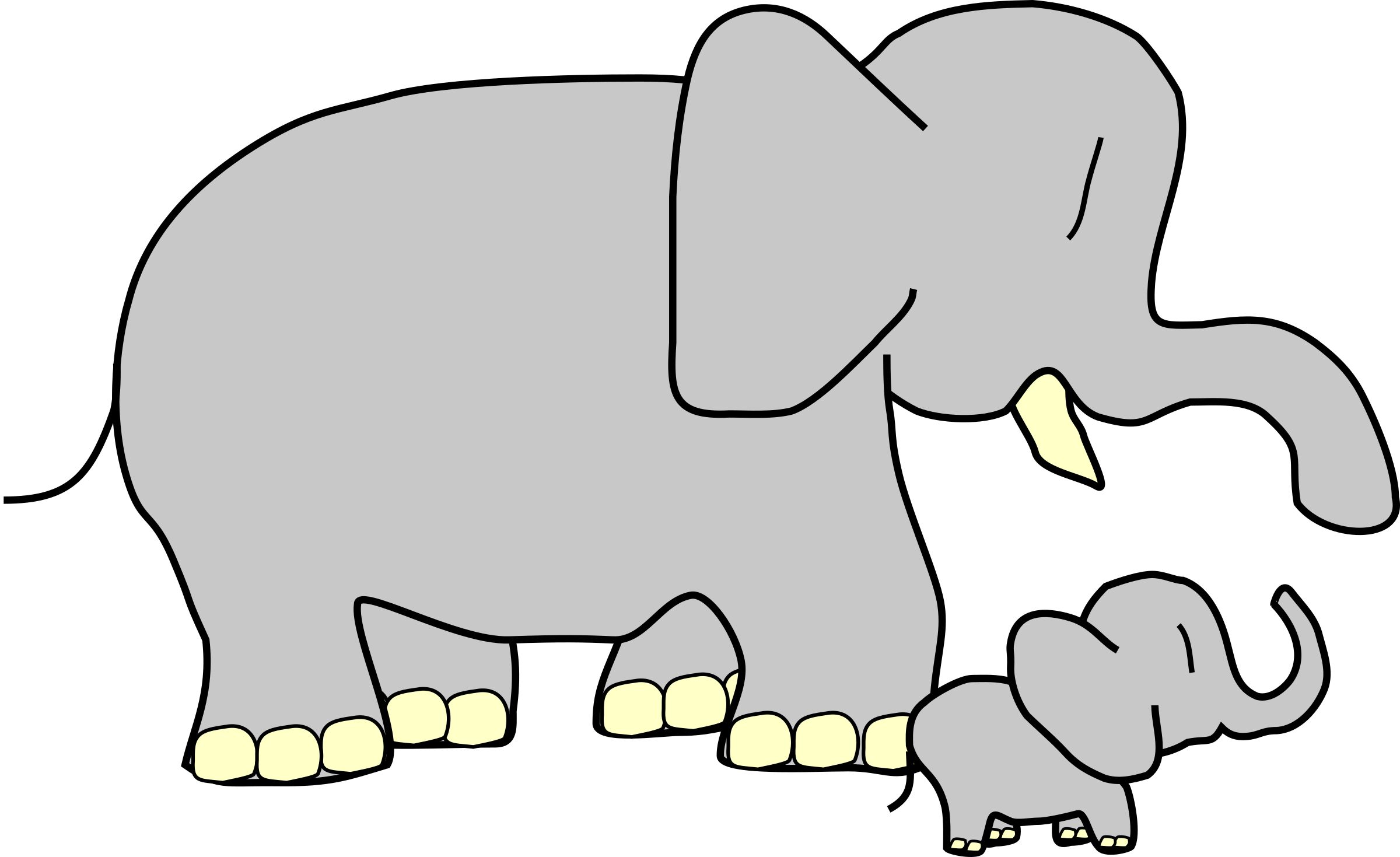 Baby elephant with heart clipart picture library Big And Small Clipart - Clipart Kid picture library
