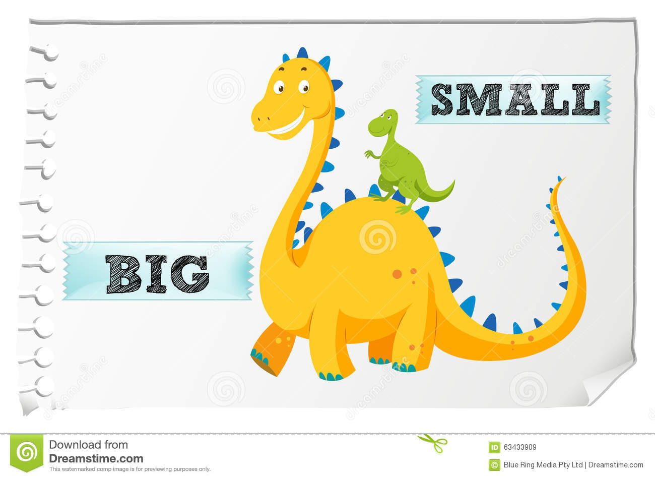 Big and small clipart freeuse download Opposite Adjectives With Big And Small Stock Vector - Image: 63433909 freeuse download