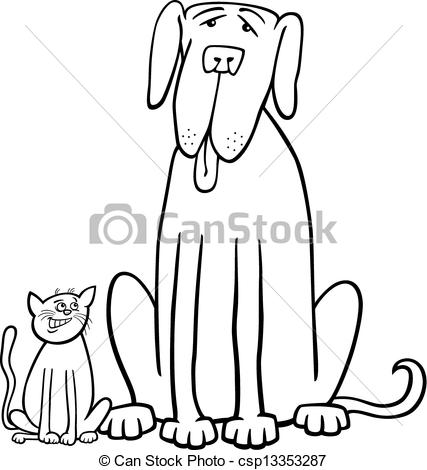 Big and small clipart clipart royalty free stock Large Small Dog Clipart - Clipart Kid clipart royalty free stock