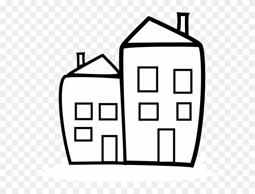 Big and small clipart black and white clip royalty free Small - Small Building Clipart Black And White, HD Png Download ... clip royalty free