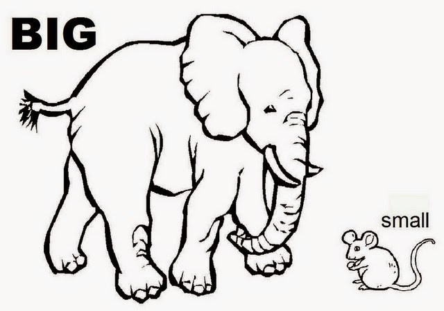 Big and small clipart black and white graphic freeuse download Big and small clipart black and white 6 » Clipart Portal graphic freeuse download