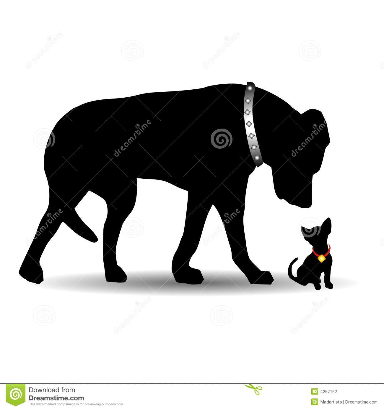 Big and small dog clipart clip art download Silhouette Big Dog Little Dog Stock Photography - Image: 4267162 clip art download