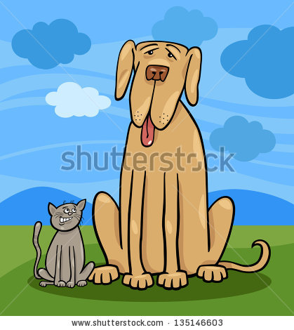 Big and small dog clipart clip freeuse Big Dog Small Dog Stock Photos, Royalty-Free Images & Vectors ... clip freeuse