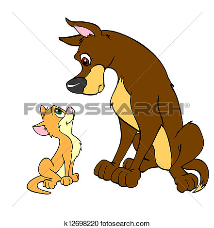 Big and small dog clipart clipart free stock Big and small dog clipart - ClipartFest clipart free stock