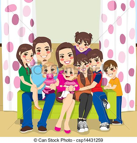 Big and small family clipart image transparent Big and small family clipart - ClipartFest image transparent