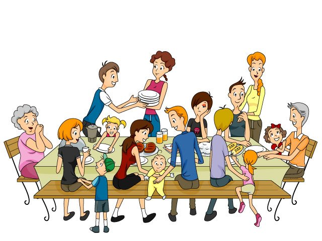 Big and small family clipart clip art transparent library Family Traditions Clip Art – Clipart Free Download clip art transparent library
