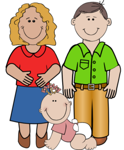 Big and small family clipart picture black and white download Big and small family clipart - ClipartFest picture black and white download