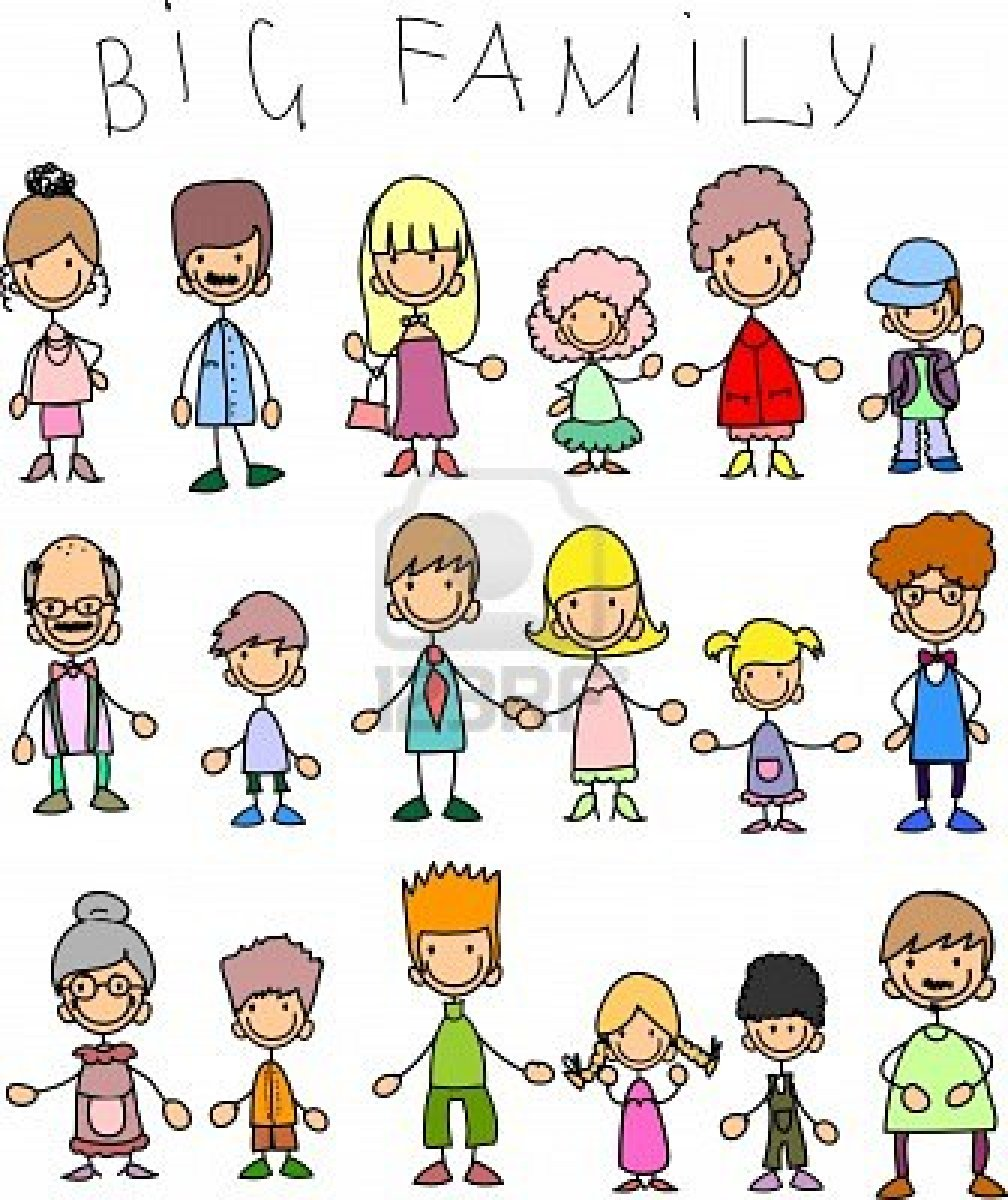 Big and small family clipart clip freeuse stock Large Family Clipart - Clipart Kid clip freeuse stock