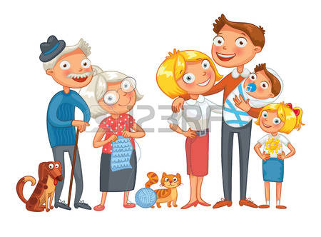 Big and small family clipart png black and white stock 11,744 Small Family Stock Illustrations, Cliparts And Royalty Free ... png black and white stock