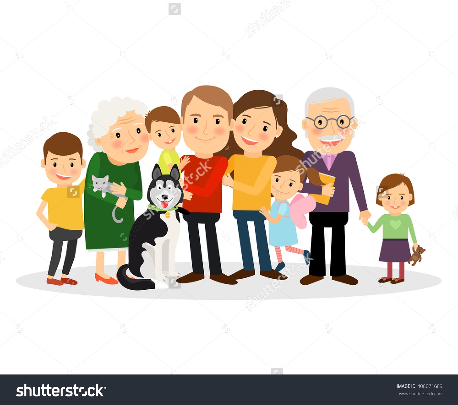Big and small family clipart picture free download Big and small family clipart - ClipartFest picture free download