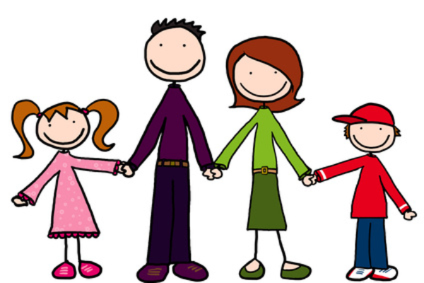 Big and small family clipart clip royalty free download Cartoon Family Holding Hands | Free Images at Clker.com - vector ... clip royalty free download