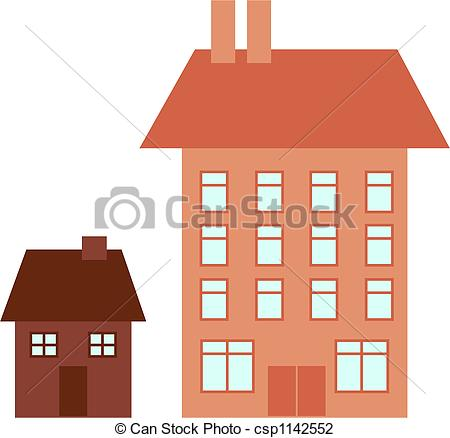 Big and small house clipart picture transparent stock Big and small house clipart - ClipartFest picture transparent stock
