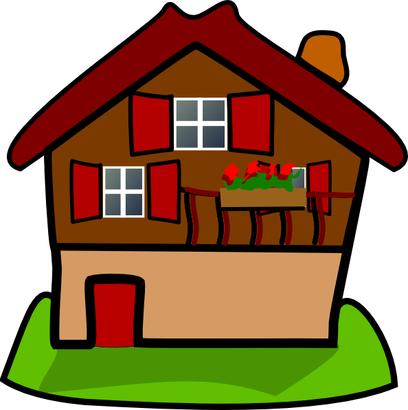 Simple house clipart image royalty free library Cartoon House Clip Art at Clker.com - vector clip art online ... image royalty free library