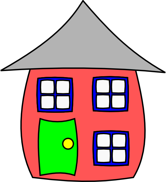 House with windows clipart graphic transparent download Cartoon House Clip Art at Clker.com - vector clip art online ... graphic transparent download