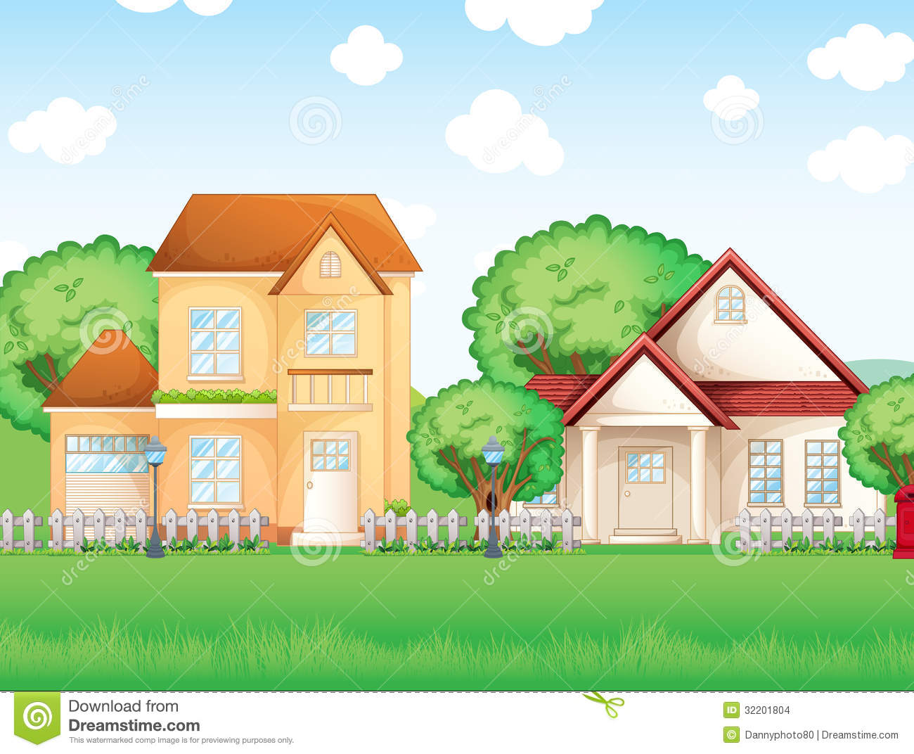 Big and small house clipart image library library Two Big Houses Stock Images - Image: 32201804 image library library