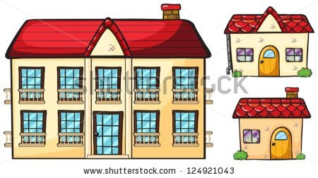 Big and small house clipart clipart stock Big House Small House Stock Photos, Royalty-Free Images & Vectors ... clipart stock